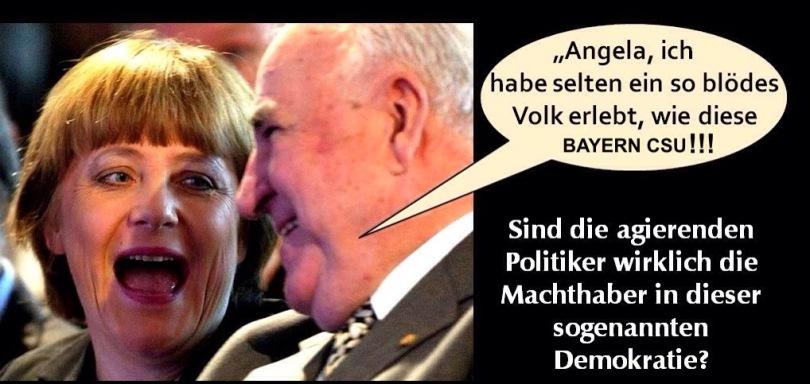 Volksverhetzer grenzdebile Bayern CSU...!