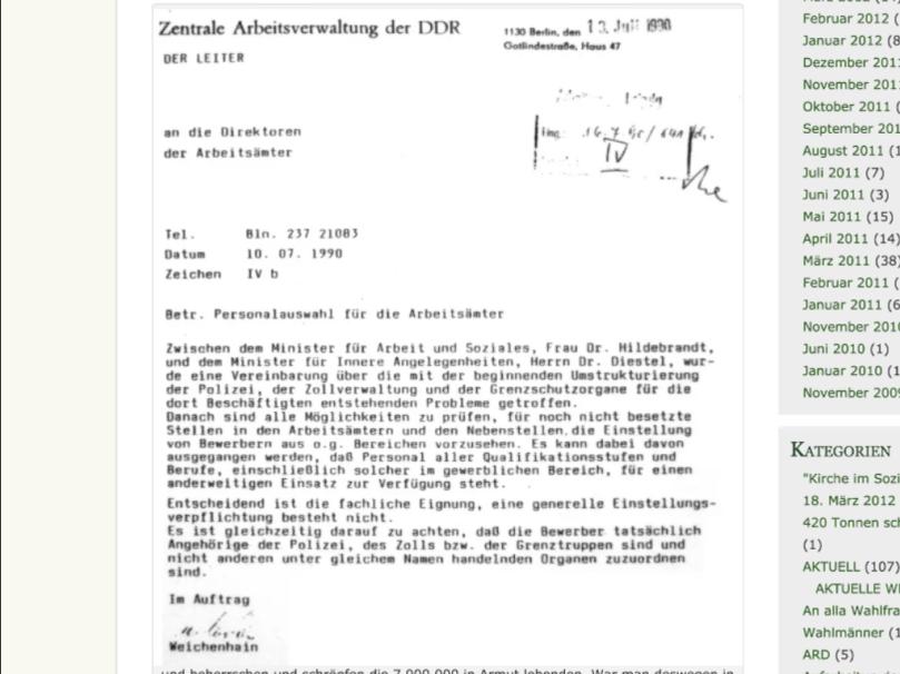 Der Erwerbslose HaJo Schmidt fordert aus dem Exil die EntSTASIfizierung der Jobcenter in Doitschland...vor allem im Osten!