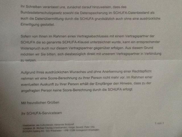Schufa Unterlassungsanspruch Gegen Scorewertverfahren Anerkannt
