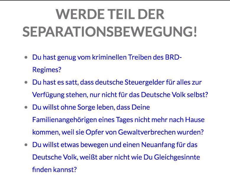 WERDE TEIL DER SEPARATIONSBEWEGUNG! – Tagebuch eines Deutschen…!