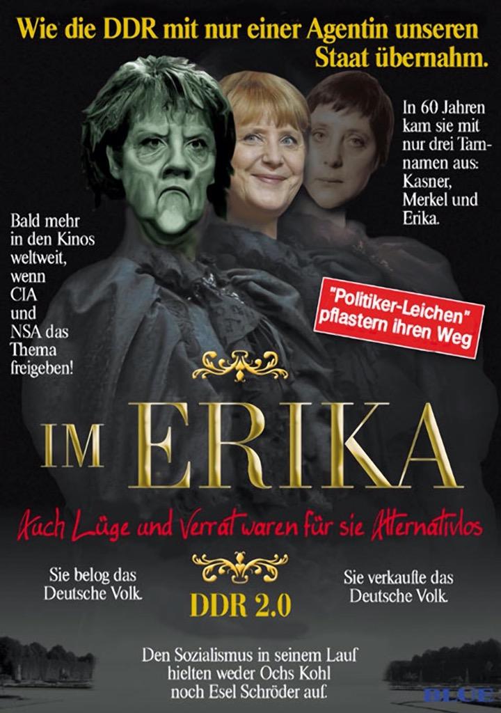 Eingeschlafen ist der deutsche Michel bei Merkels