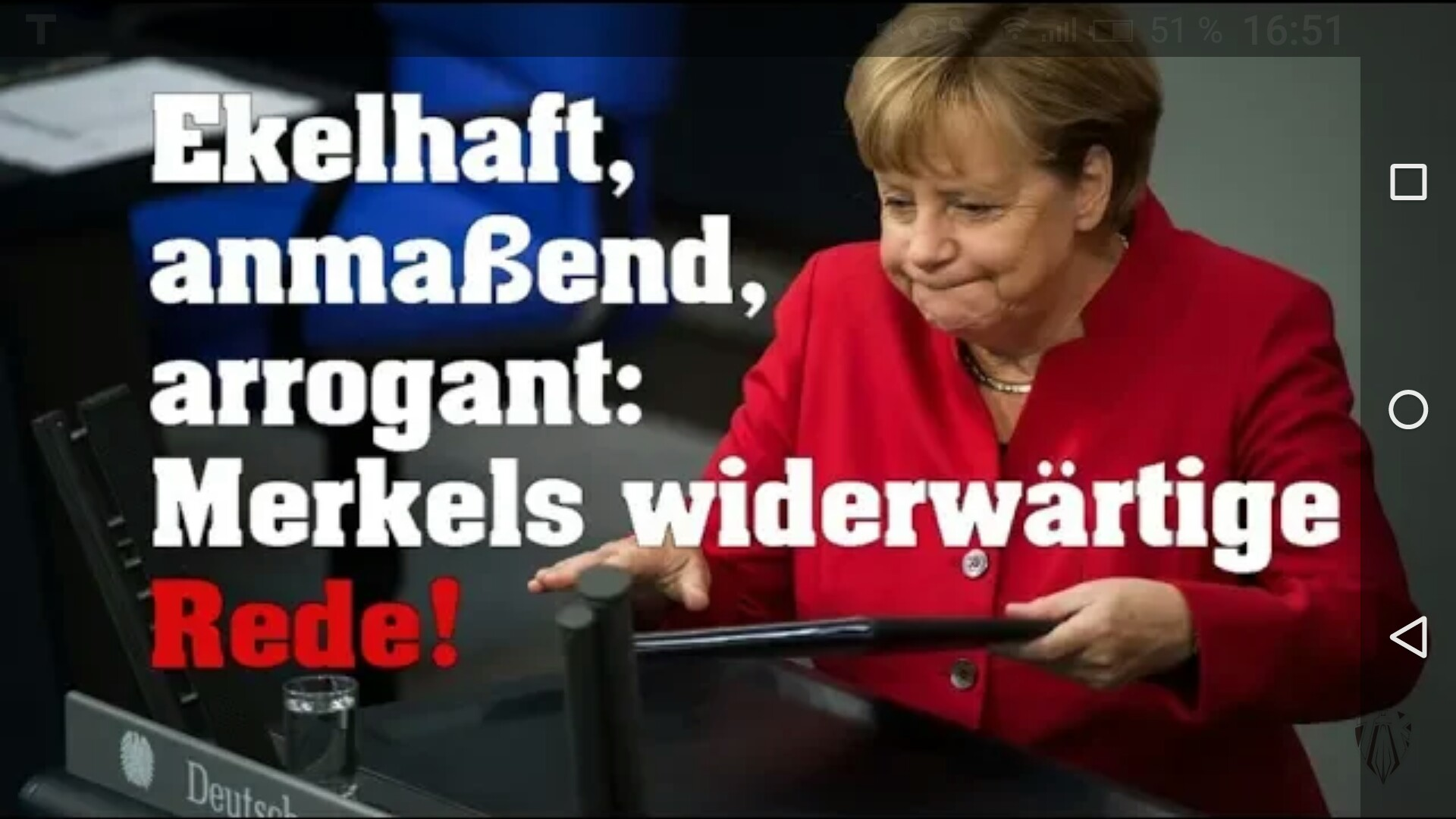 """Willi Wimmer: """"Merkel hat unserem deutschen Rechtsstaat einen Stoß versetzt, von dem er sich nicht erholen wird!"""""""