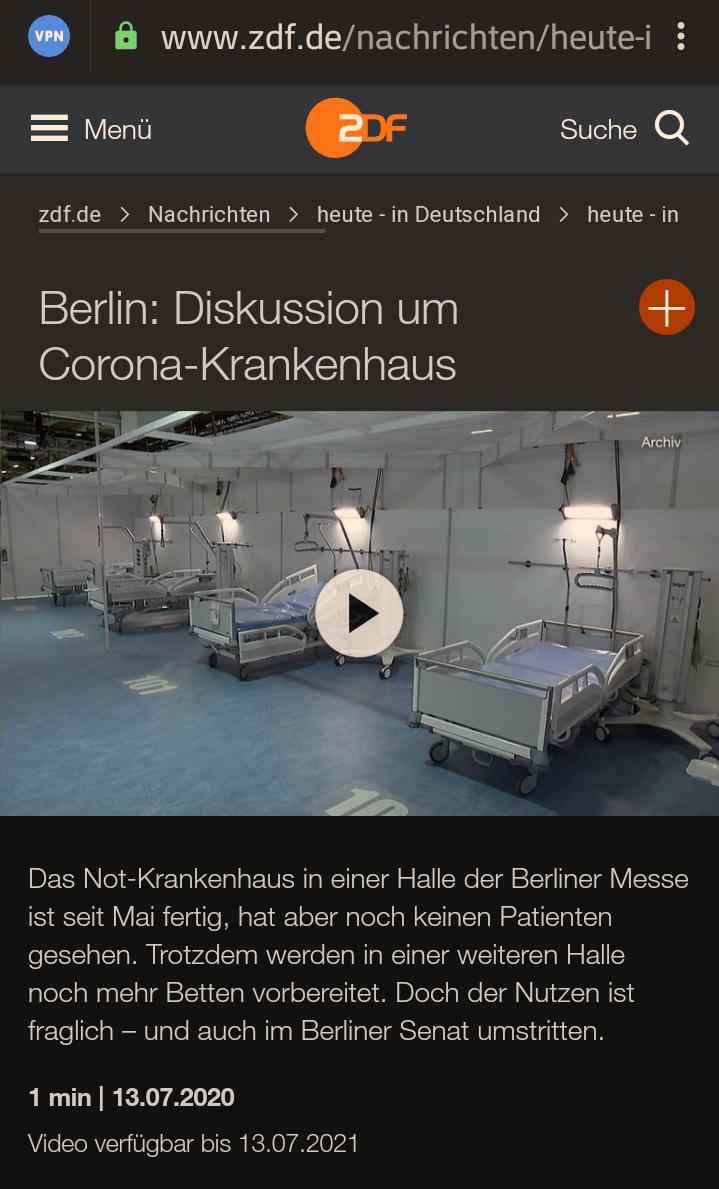 +++ ACHTUNG – AUFRUF AN ALLE BERLINER !!! +++Bitte teilen: Mich würde brennend interessieren, ob hier in diesem EXTRA errichteten Corona Krankenhaus auch nur EIN PATIENT liegt…!??