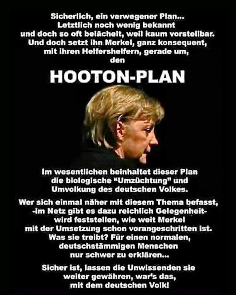 """Der HOOTON-PLAN – Im wesentlichen beinhaltet dieser Plan die biologische """"Umzüchtung"""" und Umvolkung des deutschen Volkes…!!!"""