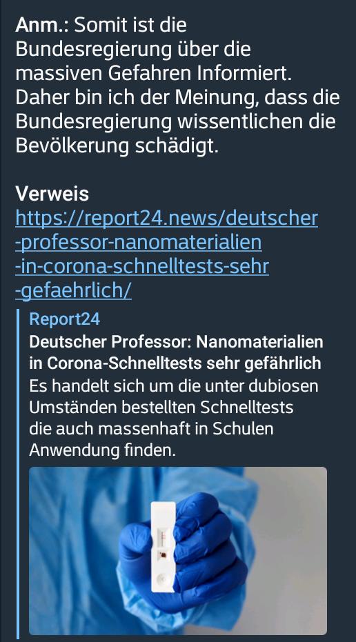 Nanomaterialien in Corona-Schnelltests sehr gefährlich…!!!